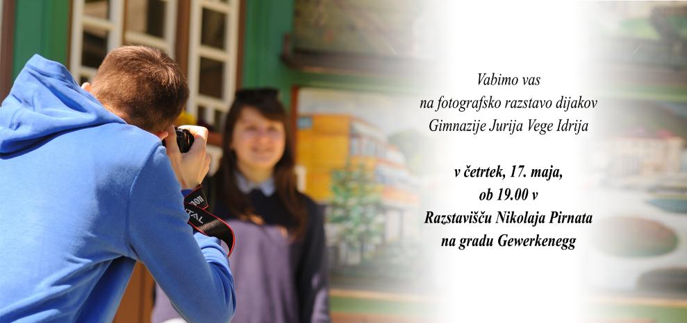 Vabilo na fotografsko razstavo dijakov